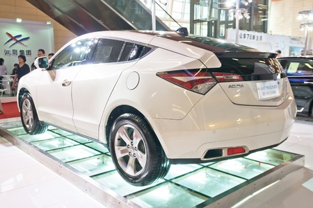 acura: ACURA ZDX car on display at the 2012 Guangzhou daily BaiYun INT L Auto-expo Editorial