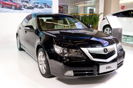 acura: ACURA RL car on display at the 2012 Guangzhou daily BaiYun INT L Auto-expo