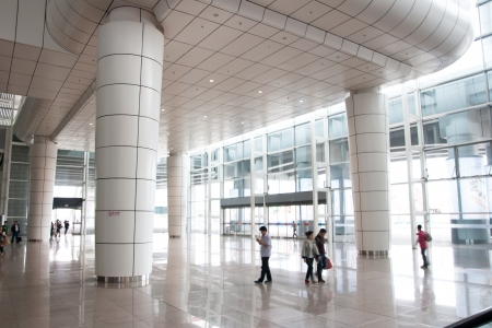 guangzhou: Guangzhou South Railway Station for high-speed trains, Is a large modern railway station,serves 200000 passengers per day,GUANGZHOU CHINA Editorial