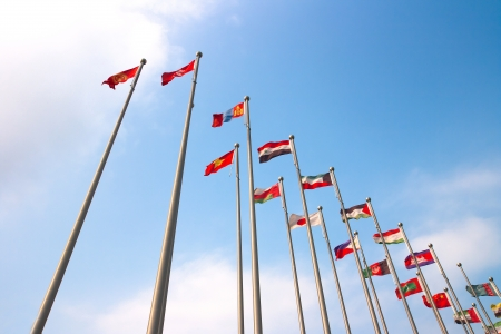 Asian countries and regions the flag Stock Photo - 13630452