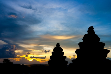 Phnom Bakheng Sunset,siem reap ,Cambodia Zdjęcie Seryjne