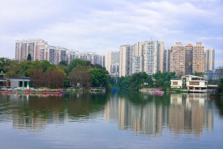 ou: Modern Chinese residential,Guangzh ou China Stock Photo