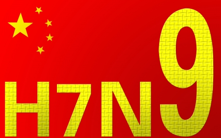 H7N9 avian flu background, H7N9 avian flu was first discovered in China in March 2013 Stock Photo - 19246526