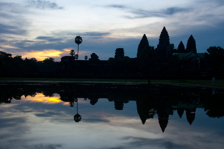 cambodge: Angkor wat sunrise, Cambodia Stock Photo