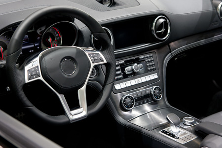 Modern car dashboard