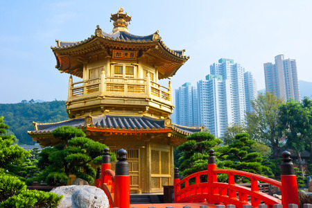 chinese temple: Nan Lian Garden,This is a government public park,situated at Diamond hill,Kowloon,Hong Kong