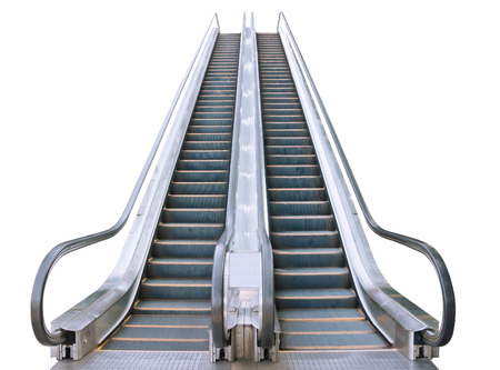 An escalator isolated on white