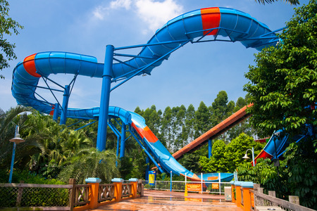 visitors in the chimelong water park,Chimelong Waterpark is the largest waterpark in the world.China Zdjęcie Seryjne