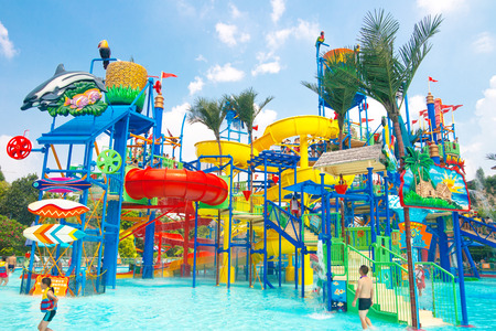 visitors in the chimelong water park,Chimelong Waterpark is the largest waterpark in the world.China Publikacyjne