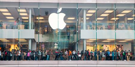 Apple store on Nov 19, 2014 in Hong Kong