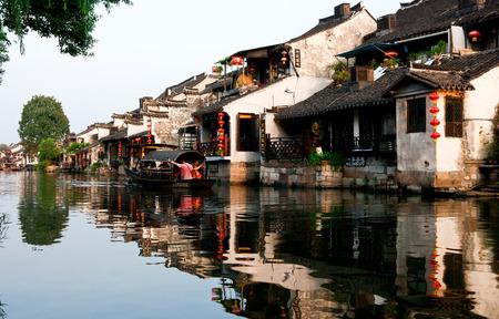 Traveler at Xitang ancient town, China