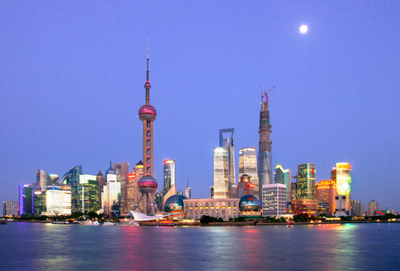 metropolis: Cityscape of Shanghai Chinese, Shanghai is a International metropolis