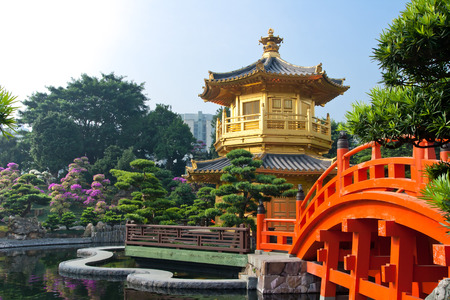water garden: Nan Lian Garden, This is a government public park, situated at Diamond hill, Kowloon, Hong Kong