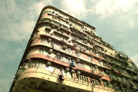 hong: old apartment building in Hong Kong