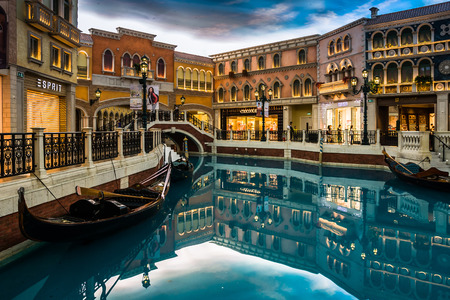 The Venetian Macao-Resort-Hotel in Macau, China Editorial