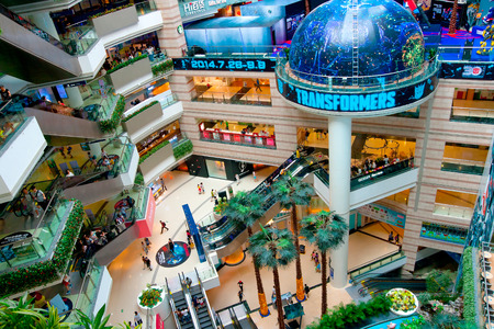 Grandview mall is a major International level luxurious shopping centre in Guangzhou. China
