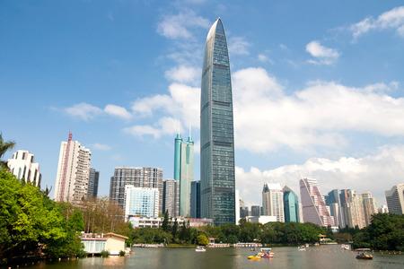 Shenzhen city center scenery, China