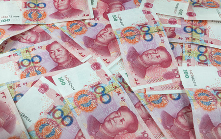 subornation: Chinese yuan renminbi banknotes Stock Photo