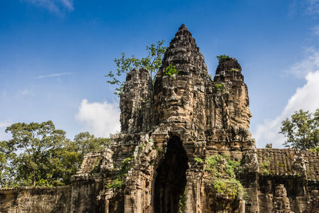 siem: bayon, siem reap, Cambodia Stock Photo