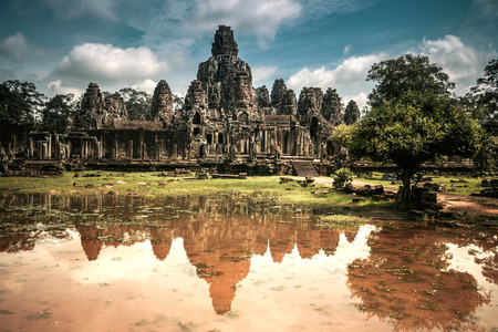 bayon: bayon, siem reap, Cambodia Stock Photo