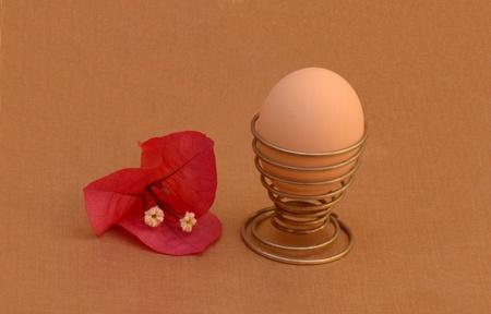 Egg and flower