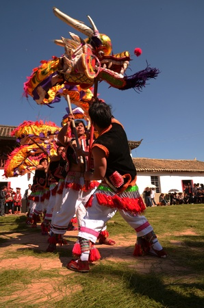 People playing dragon dances