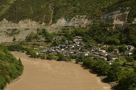 Lancang river Stock Photo