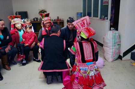 wedding customs: Huayao, yi wedding, China, Yunnan
