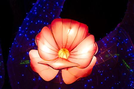 colourful lightings: The Spring Festival Stock Photo