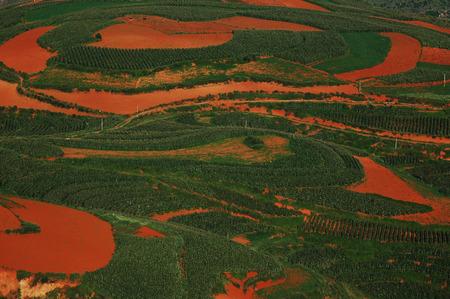 gules: red dirt terrace Stock Photo