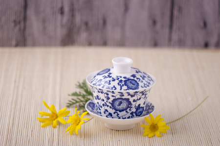necessities: Blue and white porcelain tea cup