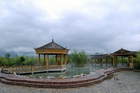 Dali Direguo Hot Springs 스톡 콘텐츠