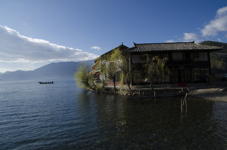 Lugu Lake Island grid Editorial