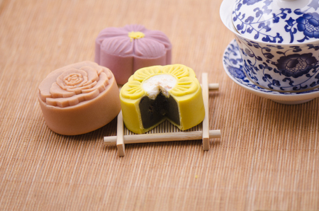 articles: Moon cake and teapot