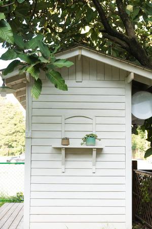 White small house