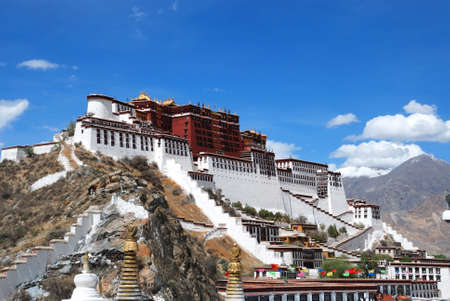 buddhist structures:  Potala palace in Lhasa, Tibet