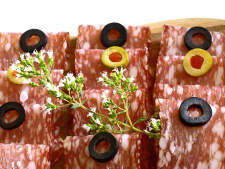 air dried salami: italian salami