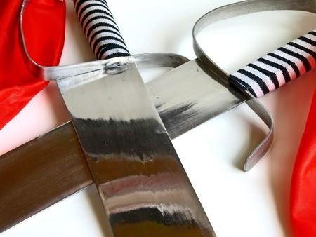 sabel: saber for training of kungfu Stockfoto