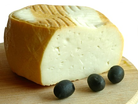 gout: smoked gout cheese of the Canarian Islands