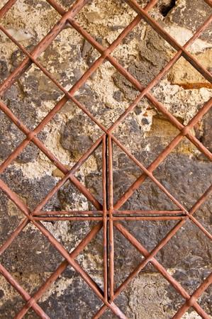 antik: old iron door Stock Photo