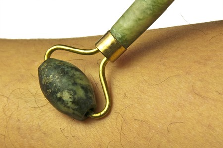 massage tool made of jade Banco de Imagens