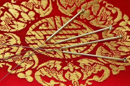 Acupuncture needles Stock Photo - 8428320