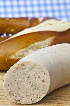 veal sausage: veal sausage with pretzel