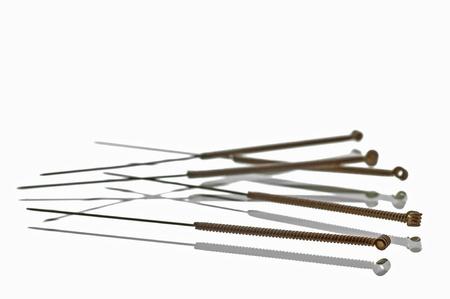 acupuntura china: agujas de acupuntura