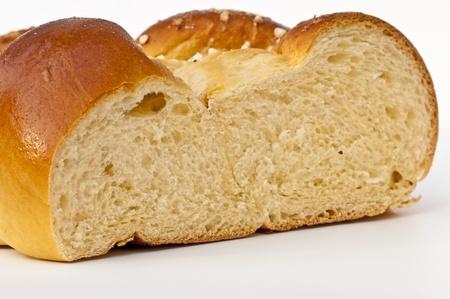 braided yeast bun    photo