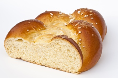 levadura: pan de levadura trenzado    Foto de archivo