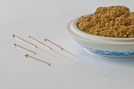 warming therapy: Acupuncture needle
