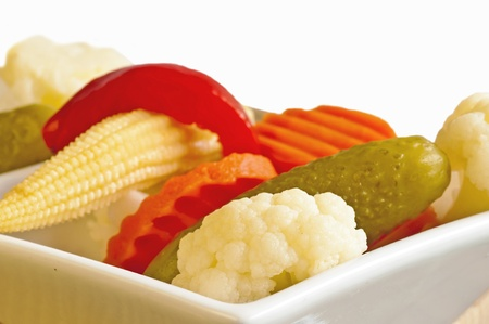 pungent: Mixed Pickles Stock Photo