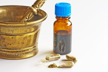 tincture and pills Stock Photo - 10098131