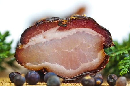 smoked ham of the Black Forest photo